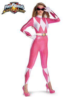 Power Rangers Pink Ranger Sassy Bodysuit Women's Costume