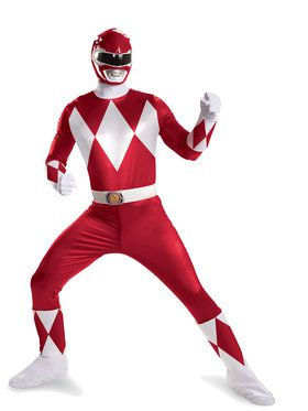 Power Rangers Red Ranger Super Deluxe Men's Costume