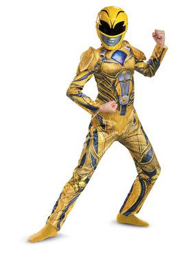 Power Rangers: Yellow Ranger Deluxe Child Costume