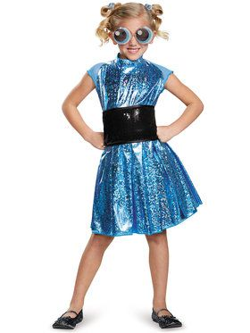 Powerpuff Bubbles Deluxe Girl's Costume