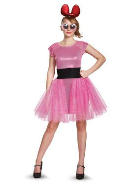 Powerpuff Girls Blossom Deluxe Adult Costume