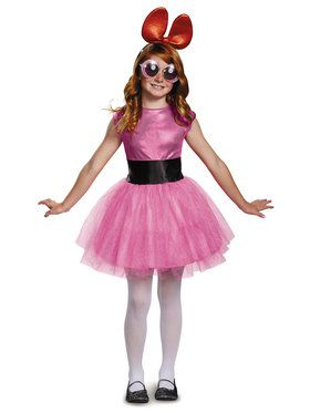 Child Powerpuff Girls Blossom Deluxe Tutu Costume