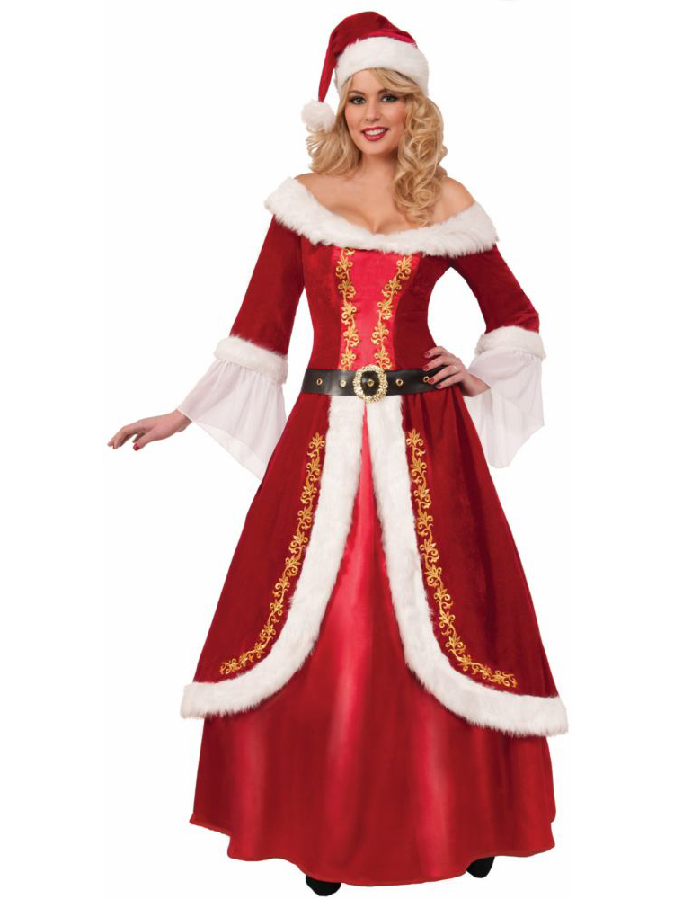 premium mrs claus costume for adults