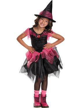 Pretty Witch Girl's Costume