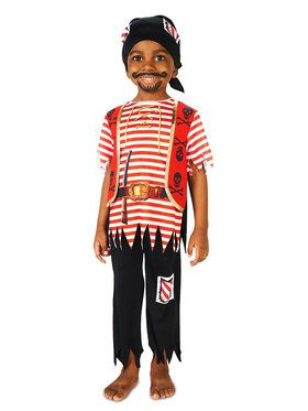 Printed Pirate Matey Costume For Children
