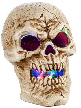"Prismatic Skull 9.75"" for Halloween"