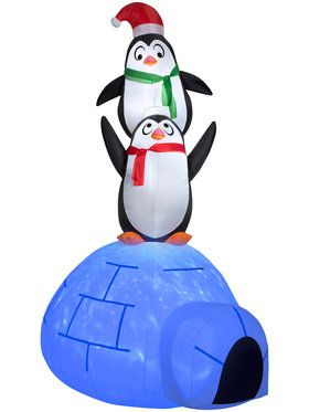 Projection Airblown Kaleidoscope - Igloo with Penguins