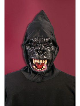 Hooded Gorilla Mask Accessory
