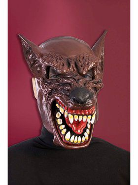 Hooded Wolf Mask Accessory