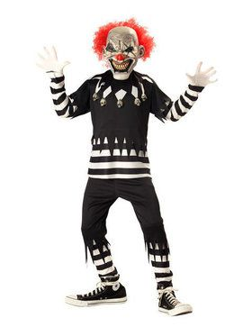 Psycho Clown Costume for Boys
