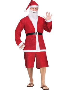 Pub Crawl Santa Shorts Suit Men's Costume