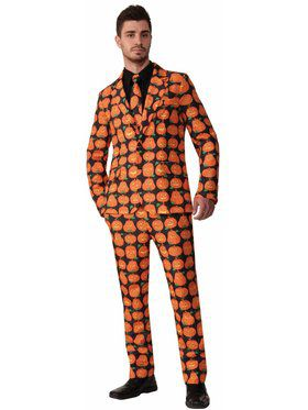 Pumpkin Suit and Tie Adult Large Costume