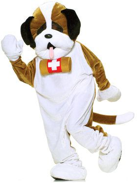 Plus Size Puppy Dog Plush Economy Mascot Costume For Adults