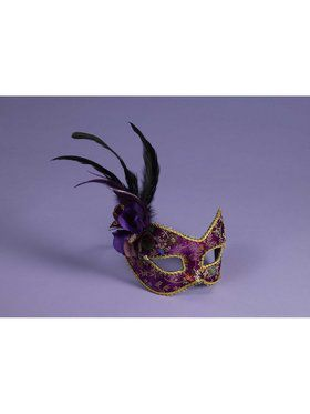Purple and Gold Masquerade Adult Mask