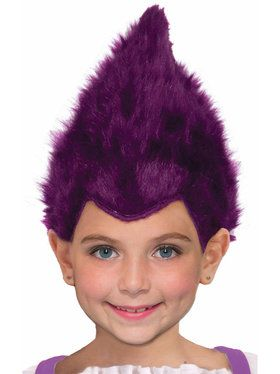Child Purple Fuzzy Wig