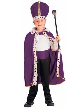 King Robe and Crown Set Purple - Child Costume