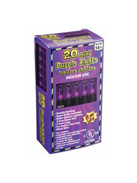 Purple Mini Lights - 20 Light String Set