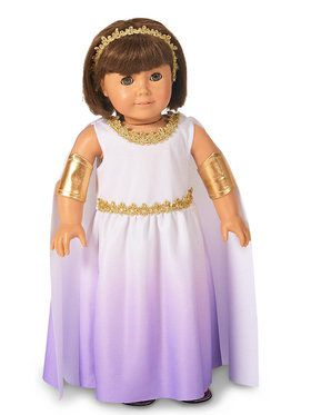 "Purple Passion Greek Goddess 18"" Doll Costume"