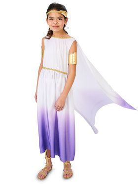 Purple Passion Greek Goddess Costume For Children