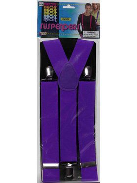 Mens Purple Suspenders Accessory