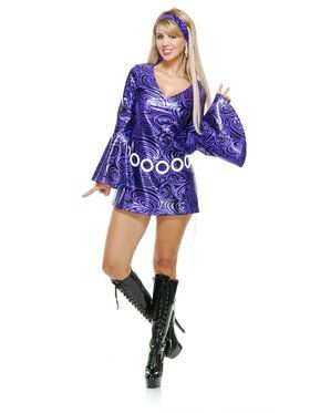 Women's Purple Swirl Disco Diva