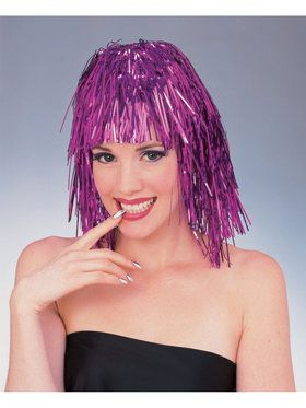 Purple Tinsel Adult Wig