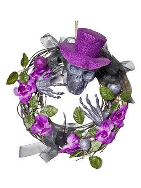 Wreath - Purple Top Hat