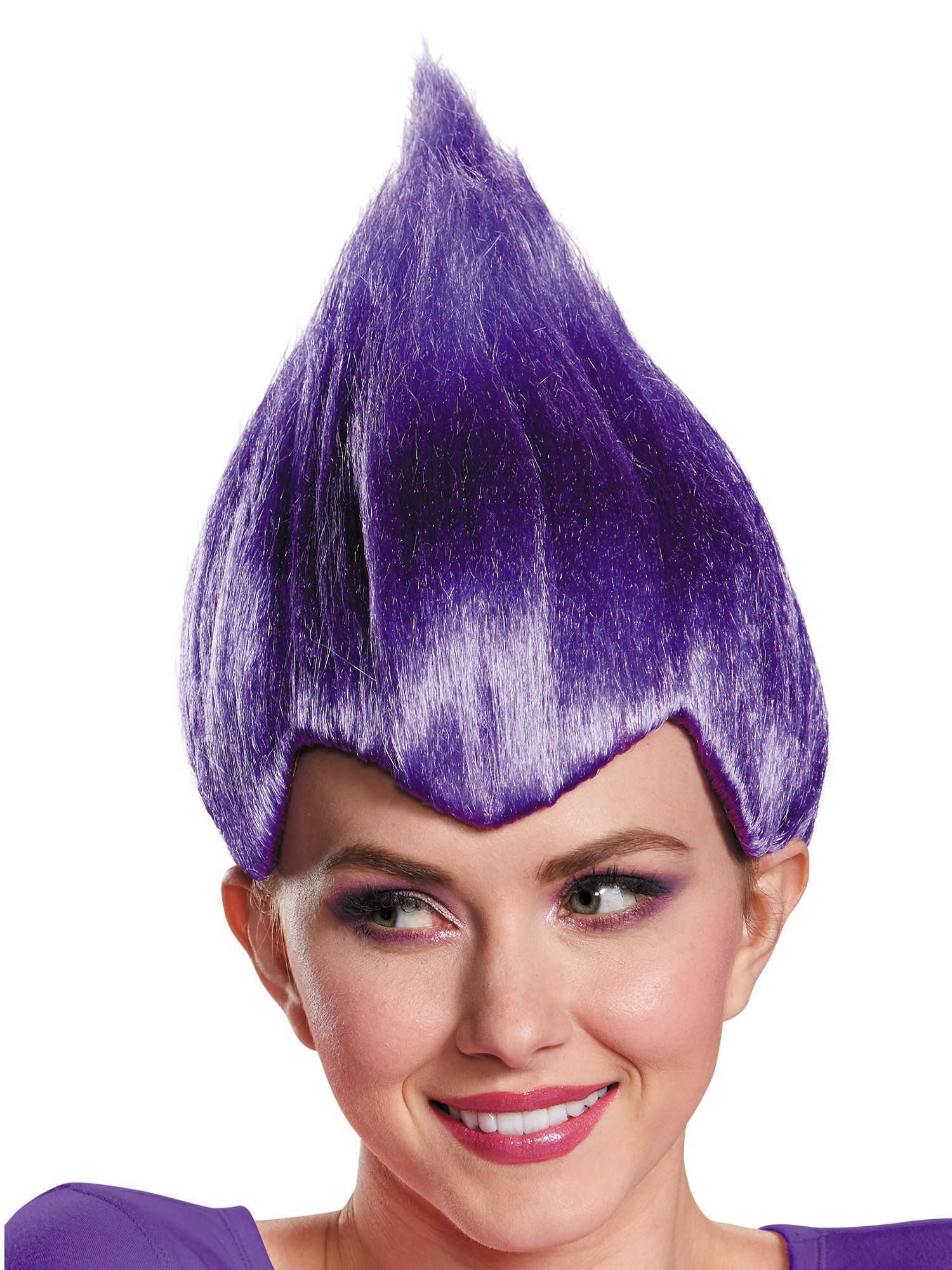 Purple Troll Wacky Wig Adult , Costume Accessories for 2019