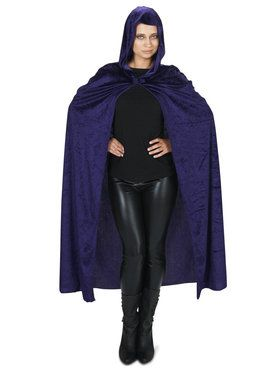 Purple Velvet Adult Cape