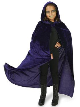 Purple Velvet Child Cape