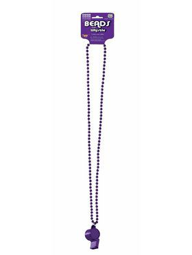 Purple Whistle w/Beaded Necklace