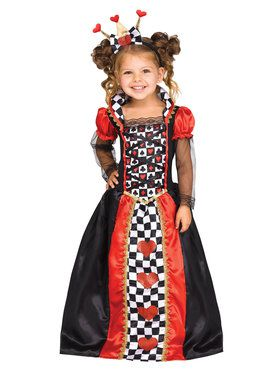 Queen of Hearts Costume for Kids  sc 1 st  Wholesale Halloween Costumes & Kids Queen of Hearts Costume for Girls - Girls Costumes for 2018 ...