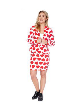 Queen of Hearts Womens Opposuit for Halloween