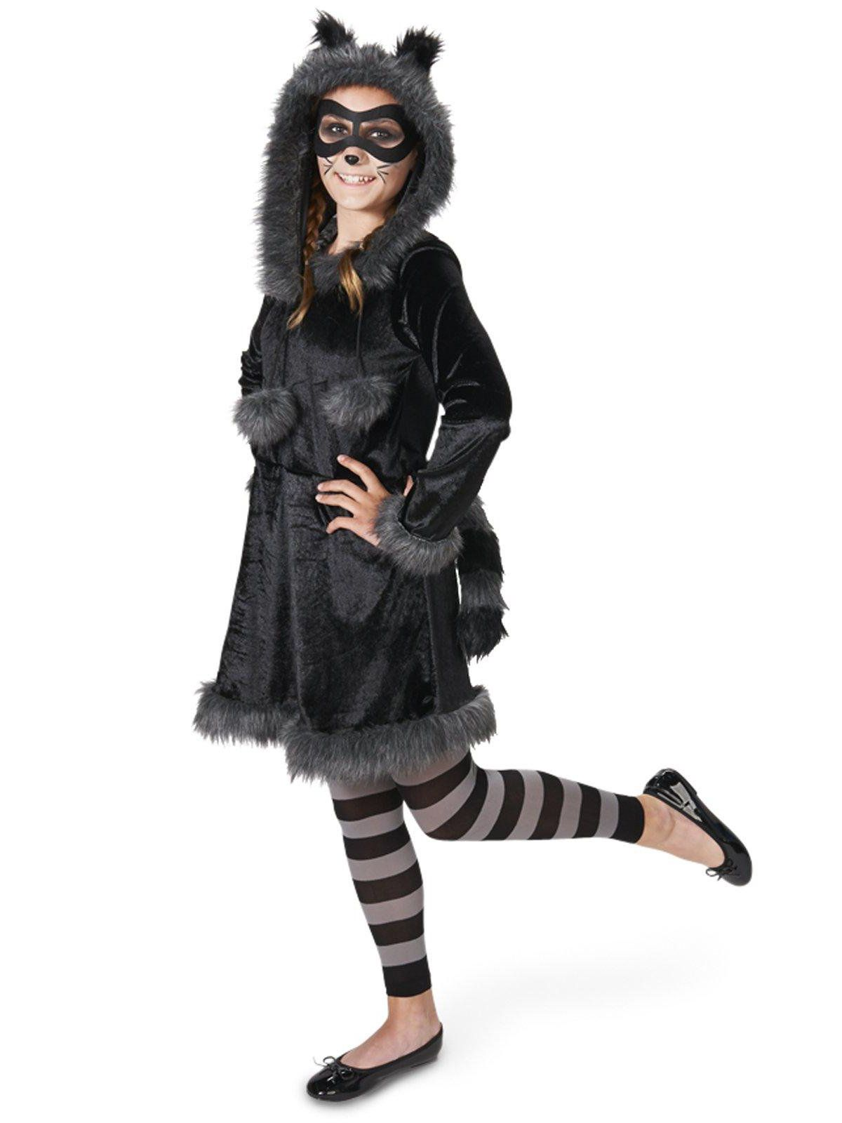 raccoon with tights tween costume for teens - girls costumes for