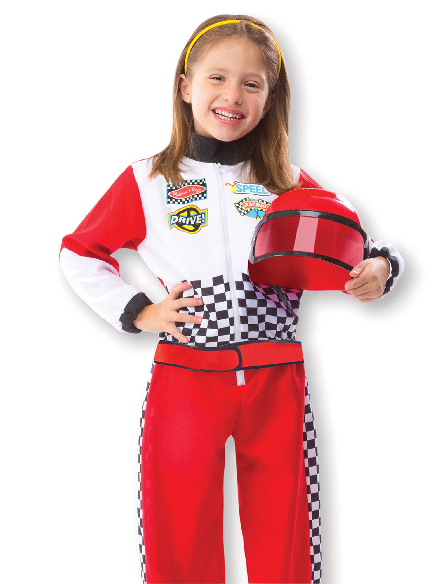 race car driver dress up set kids costume