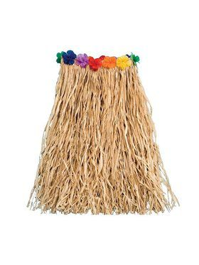 Raffia with Flowers 22 Inch Child Costume