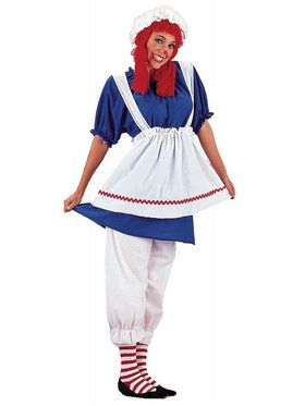 Plus Women's Rag Doll Costume
