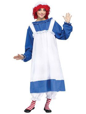 Raggedy Ann Costume For Adults