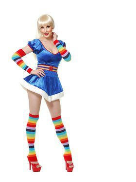 Rainbow Arm and Leg Warmers Set