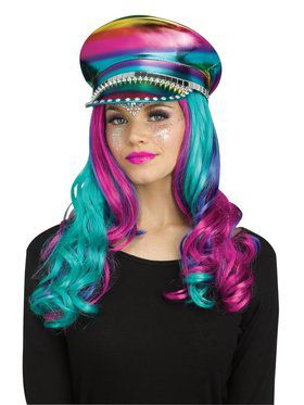 Rainbow Bling Festival Hat Accessory
