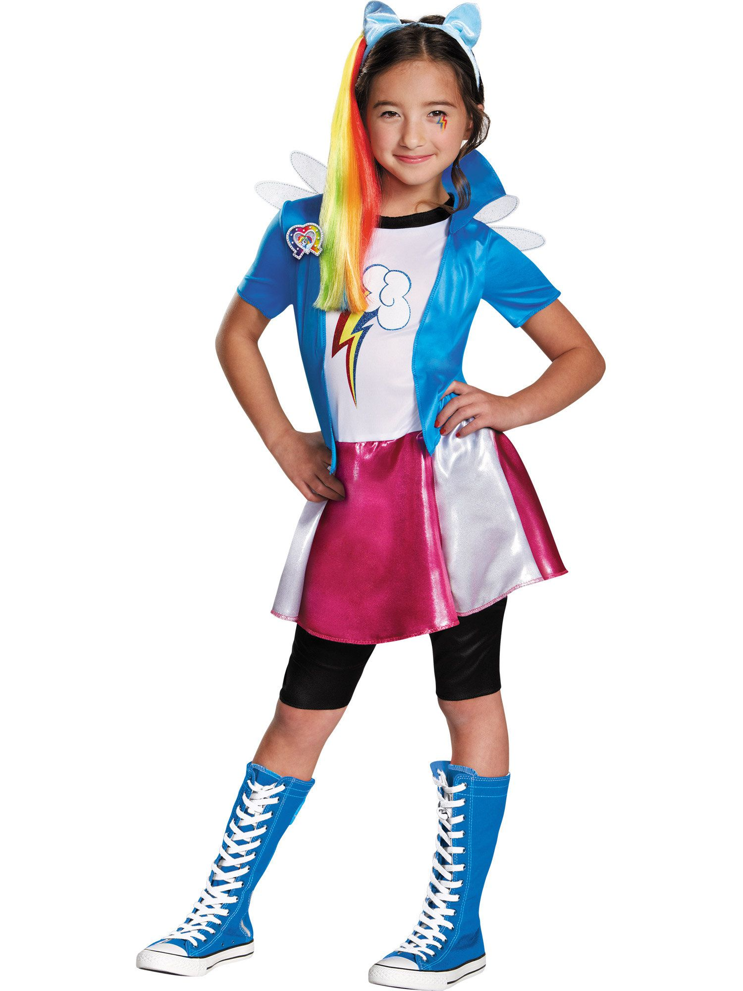 Rainbow Dash Equestria Deluxe Girlu0027s Costume  sc 1 st  Wholesale Halloween Costumes : rainbow dash halloween costume  - Germanpascual.Com