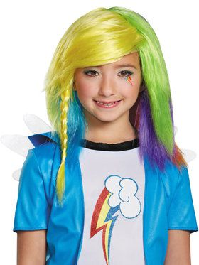Rainbow Dash Equestria Wig for Girls