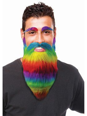 Rainbow Eyebrow and Beard Set