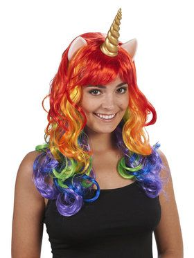 Rainbow Unicorn Wig For Adults