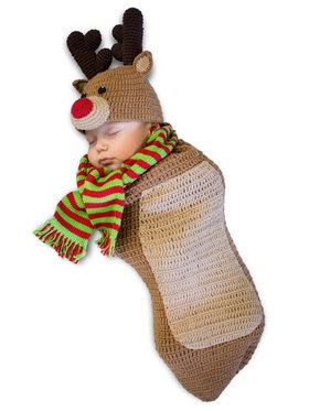 Randolph The Reindeer Newborn Costume