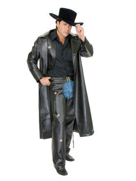 Adult's Range Rider Leather Duster