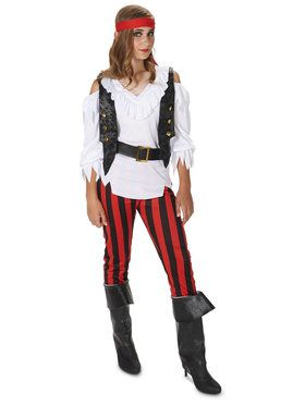 Rebel Pirate Girl Tween Costume For Teens
