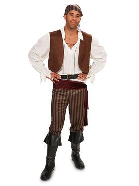 Rebel Pirate Male Costume For Adults