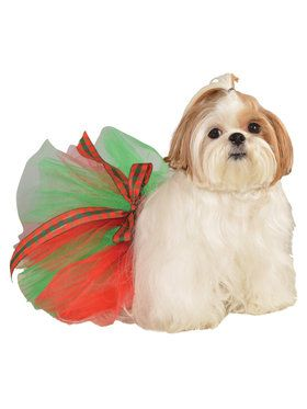 Red and Green Pet Tutu Costume
