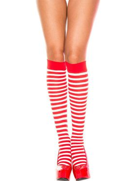 Red and White Striped Socks
